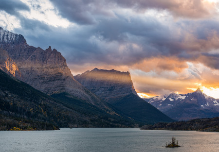 """Autumn Sunset At St.Mary Lake""     Glacier National Park, Montana"