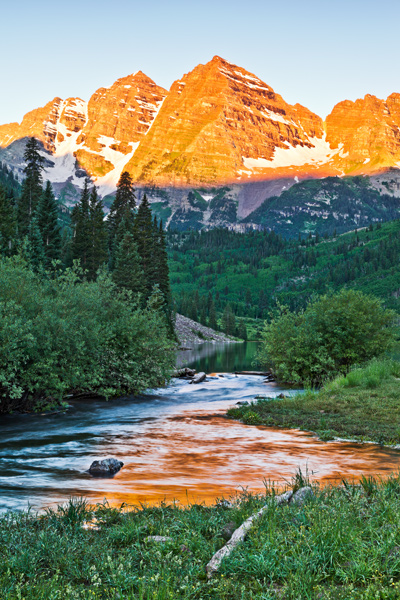 """Maroon Bells Sunrise""     Rocky Mountains, Colorado"