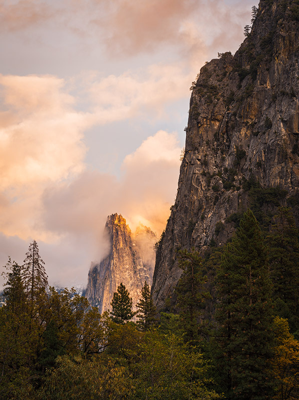"""Fall Sunset Over The Sentinel""     Yosemite National Park, California"