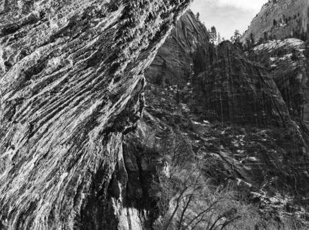 """Weeping Rock in B&W I""     Zion National Park, Utah"