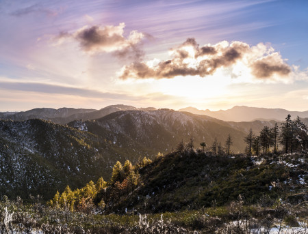 """Late Winter Afternoon Over The Los Padres National Forest""     Central California"