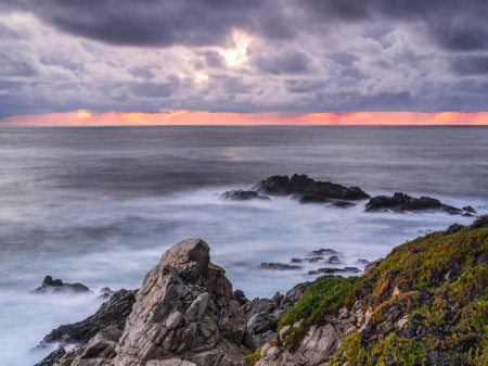 """Winter Storm Clearing Over A Garrapata Evening""     Big Sur, California"