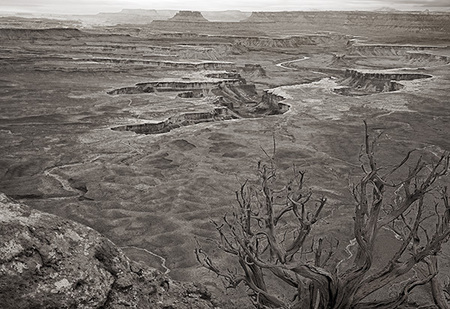 """Green River Overlook in B&W""     Canyonlands National Park, Utah"