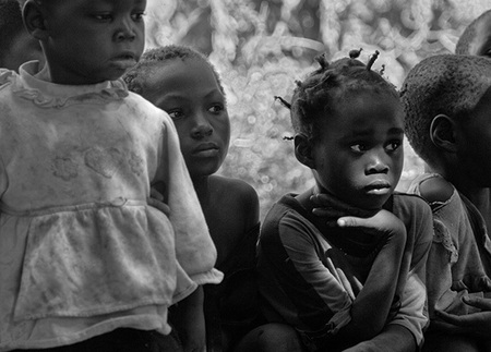 """Village Kids""     Mfuwe, Zambia"
